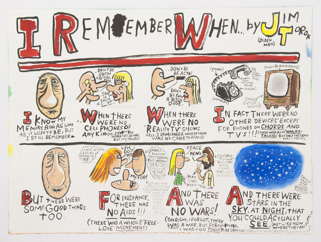 Jim Torok, 'I Remember When', 2012, Drawing, Collage or other Work on Paper, Ink on paper, Lora Reynolds Gallery