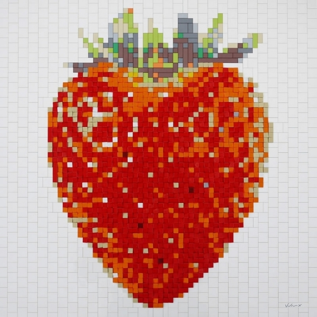 "Andre Veloux, '""Strawberry Red""', 2016, Sculpture, Lego, brick, plate, tile and slope, Parlor Gallery"