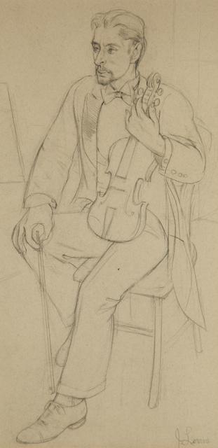 , 'Violin Player at Rest,' 1932, ACA Galleries