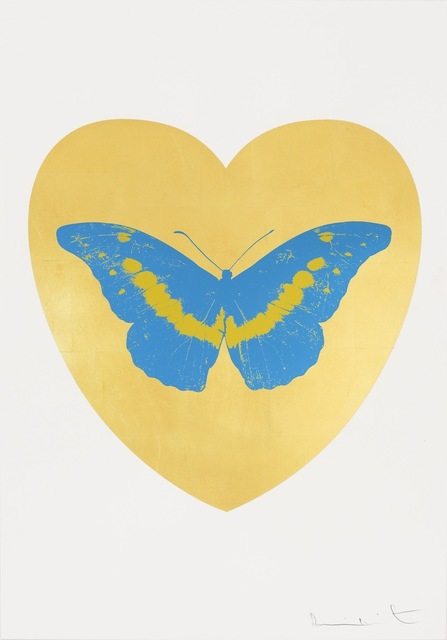 , 'I Love You - gold leaf, turquoise, oriental gold ,' 2015, Paul Stolper Gallery