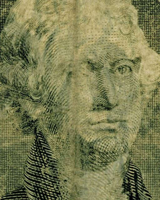 , 'Two US Dollars – Jefferson (from the Face of Money Series),' 2013, Cynthia Corbett Gallery