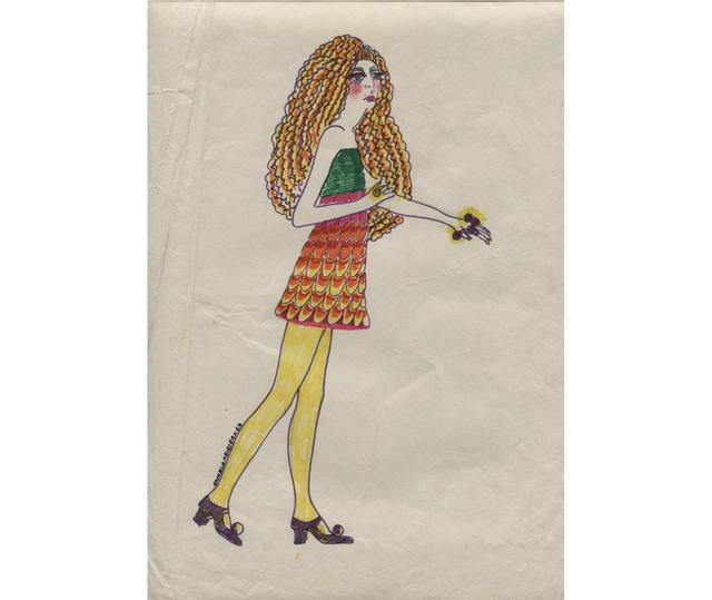 Delia Cancela, 'Chica con rulos y medias amarillas', 1967, Herlitzka + Faria