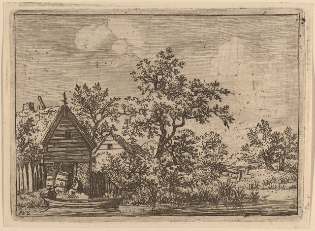 Allart van Everdingen, 'Two Casks in Front of a Cottage', probably c. 1645/1656, Print, Etching, National Gallery of Art, Washington, D.C.