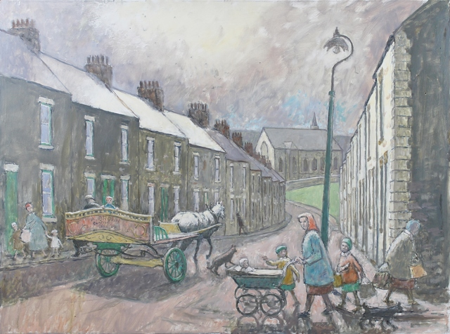Norman Cornish, 'Salvin Street with horse and cart', ca. 1970, Castlegate House Gallery