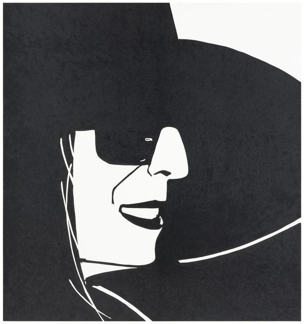 Alex Katz, 'Large Black Hat Ada', 2013, Meyerovich Gallery