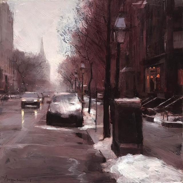 , 'Newbury Street in Snow,' 2018, Alpha Gallery