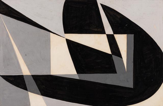 """, 'Macquette """"Composicion Abstracta en Negro"""",' 1950, The Mayor Gallery"""