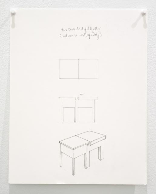 , 'Untitled (two tables that fit together but can be used separately),' 2015, Lora Reynolds Gallery