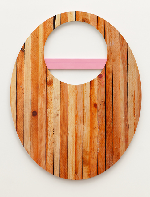 , 'woodblocks with hole,' 2015, Erin Cluley Gallery