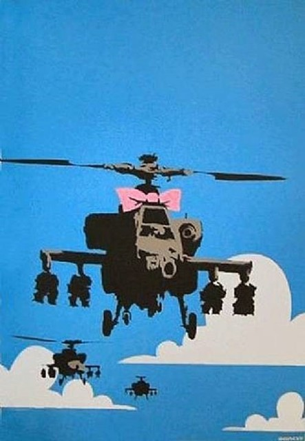 Banksy, 'Happy Choppers- Unsigned', 2003, Robin Rile Fine Art