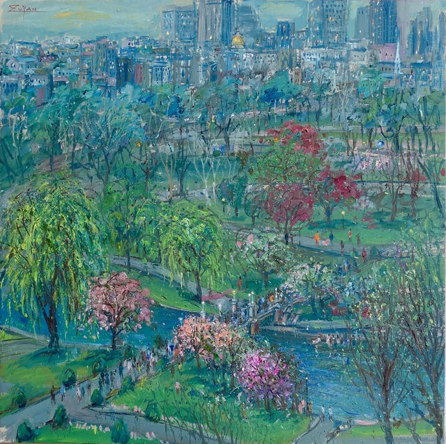 , 'Boston Public Gardens in May,' 2017, Galerie d'Orsay