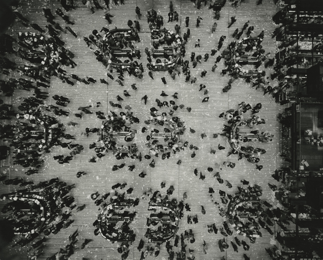 Marvin E. Newman, 'Bird's Eye View, New York Stock Exchange', 1957, Howard Greenberg Gallery