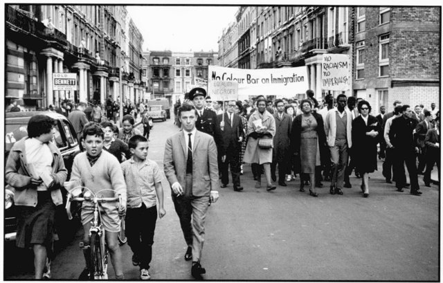 , 'Notting Hill Residents March Against Racism, London,' ca. 1965, ElliottHalls