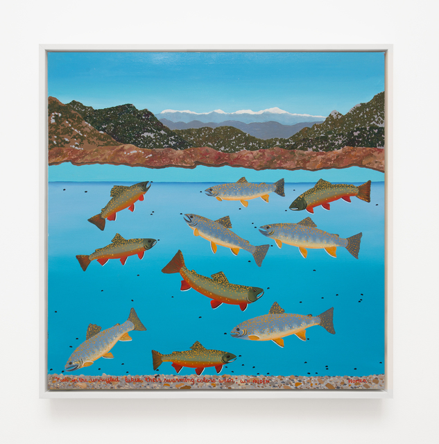 , 'Fish In The Unruffled Lakes, Their Swarming Colors Wear W.H Auden,' 2004, VARIOUS SMALL FIRES