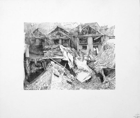 Kelly Wallace, 'Sticks n Stones', 2008, Drawing, Collage or other Work on Paper, Graphite on Paper, Seraphin Gallery