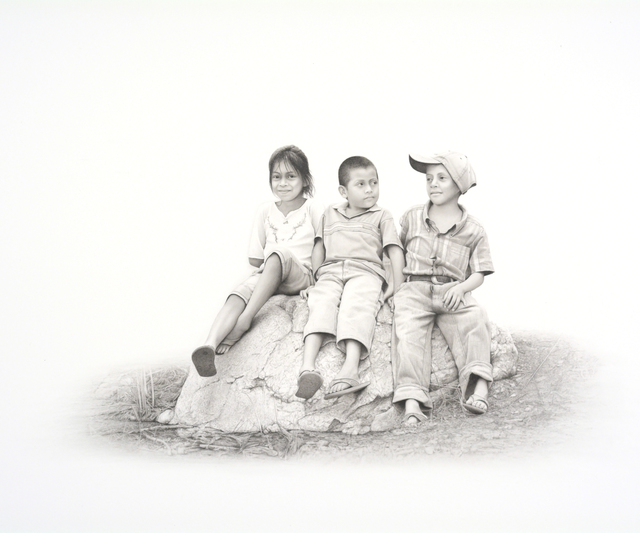 , 'Three Kids,' 2017, Kiechel Fine Art