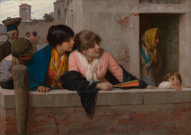 , 'Overlooking a Canal, Venice,' 1886, American Federation of Arts