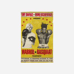 Warhol/Basquiat Paintings exhibition poster