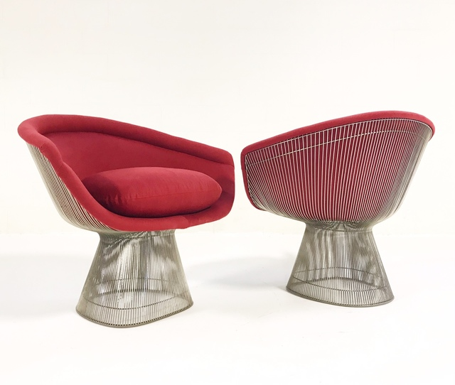 Brilliant Warren Platner Warren Platner For Knoll Lounge Chairs Restored In Loro Piana Red Cashmere Pair Ca 1966 Available For Sale Artsy Spiritservingveterans Wood Chair Design Ideas Spiritservingveteransorg