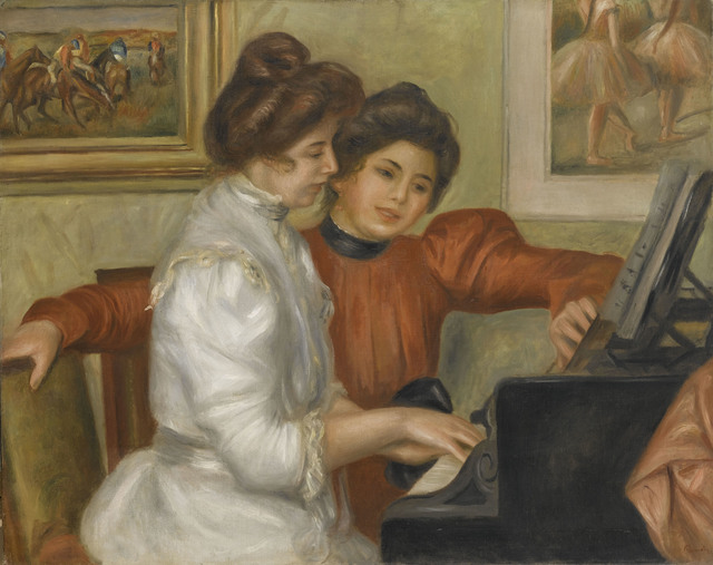 , 'Yvonne and Christine Lerolle at the Piano ,' c. 1897 -1898, The National Art Center, Tokyo
