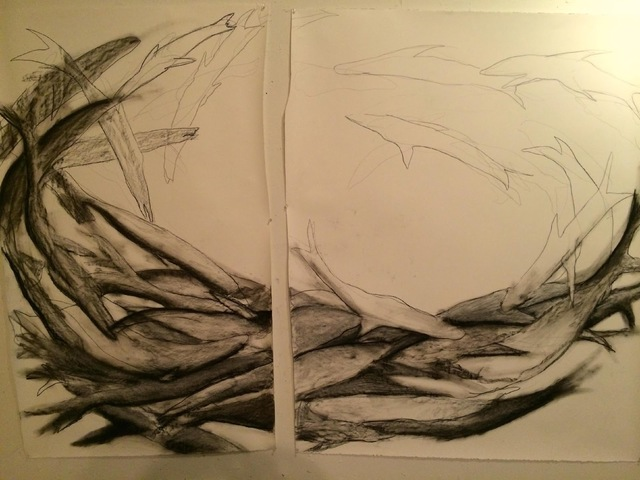 , 'Fishtych,' 2015, RoodGallery