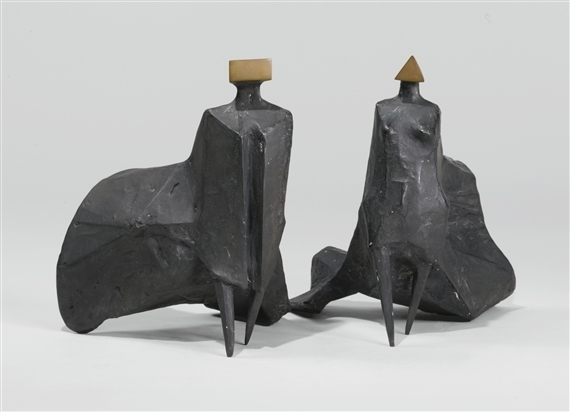 , 'Walking Cloaked Figures I,' 1978, Galeria Freites