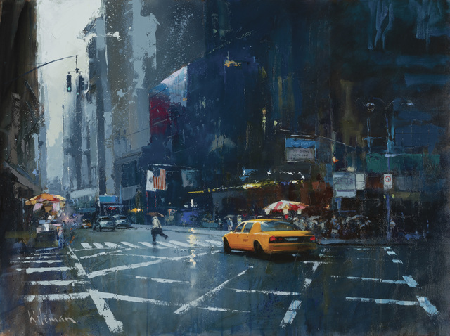 Peter Wileman, 'Winter in New York', 2019, Painting, Oil on canvas, Thompson's Galleries