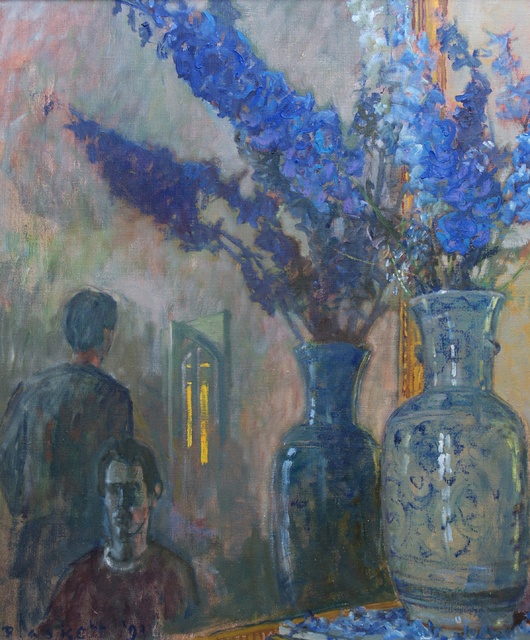 , 'Delphiniums and Figures 2,' 1993, Winchester Galleries