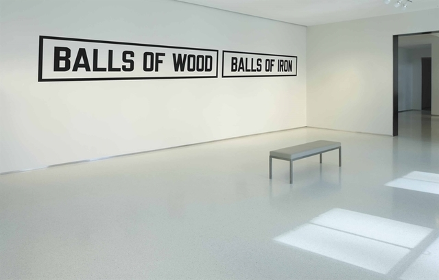 Lawrence Weiner, 'BALLS OF WOOD BALLS OF IRON', Christie's