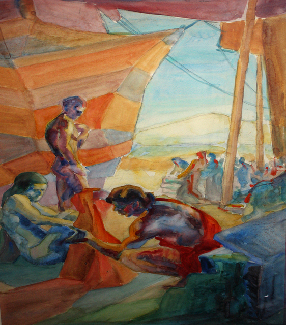 , 'Under the Circus Tent,' ca. 1930, Benjaman Gallery Group