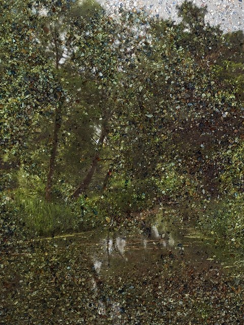 """, 'Tent-Camera Image: Constable's """"Hay Wain"""" View. Flatford, England,' 2017, ROSEGALLERY"""