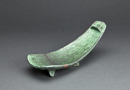 , 'Spoon form platter, copper green glaze,' , Pucker Gallery