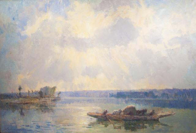 , 'Ferryboat from La Bouille, Morning (Le Bac de la Bouille, le matin),' 1912, R. S. Johnson Fine Art