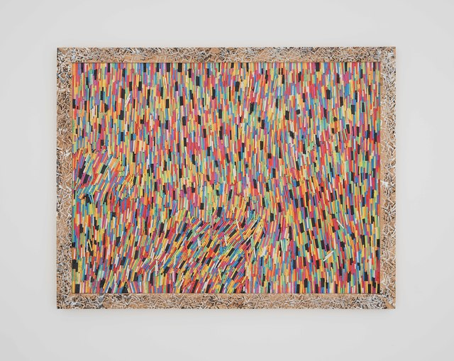 Pascale Marthine Tayou, 'Chalk Ä', 2015, Painting, Chalk, wood, Pearl Lam Galleries