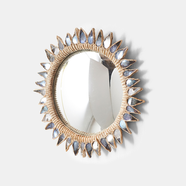 """, '""""Blue Thistle"""" Mirror by Line Vautrin ,' 1955-1965, Almond & Co."""