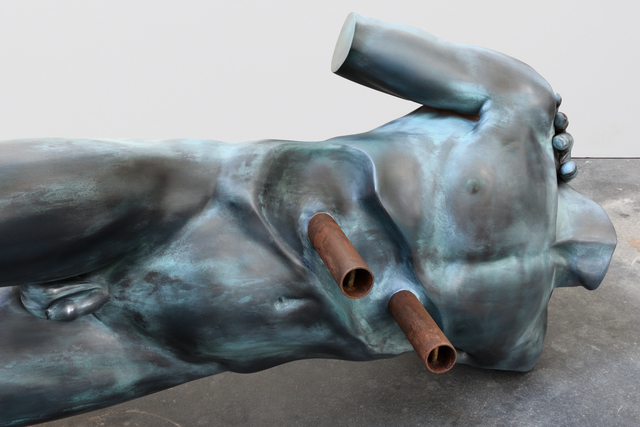 Elmgreen & Dragset, 'Some stayed on while others left', 2018, Sculpture, Epoxy, patina, lacquer, steel, Victoria Miro