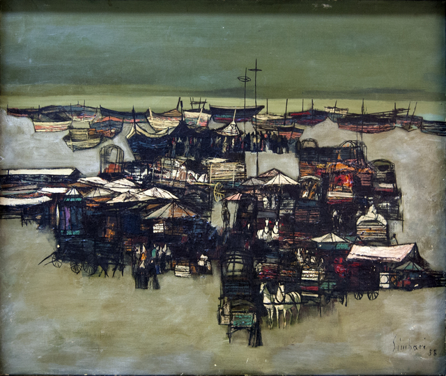 , 'View of a Port,' 1958, Baterbys Art Gallery