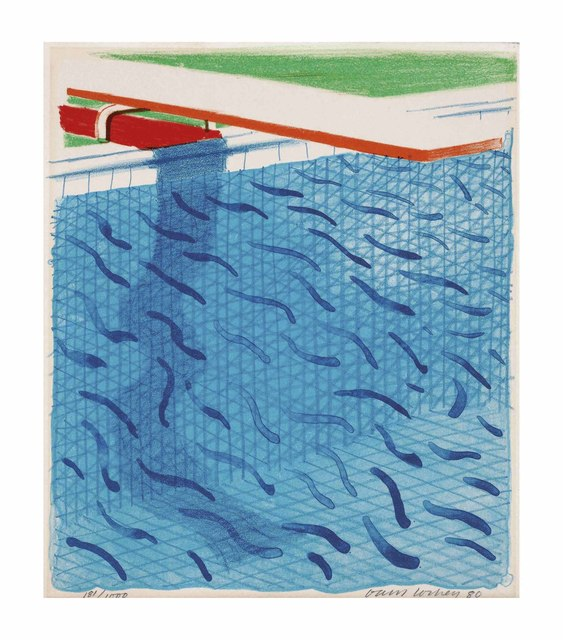 David Hockney, 'Pool made with paper and blue Ink for book', 1980, Christie's