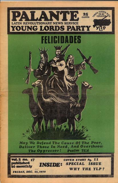 , 'Y.L.O. newspaper , v.2, n17,' 1970, El Museo del Barrio