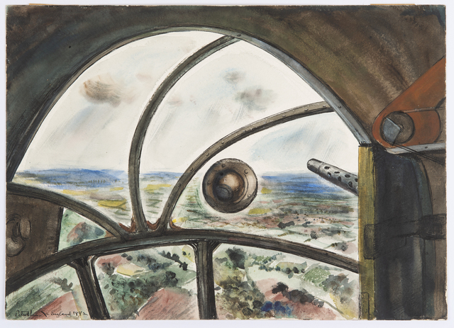 Peter Hurd, 'From a Flying Fortress over England', 1942, Drawing, Collage or other Work on Paper, Watercolour, Day & Faber
