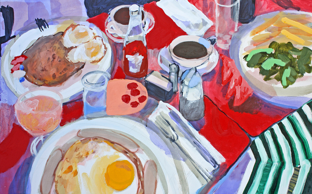 , 'Breakfast with Francis and Bridget (March Snow of New York),' 2016, G. Gibson Gallery
