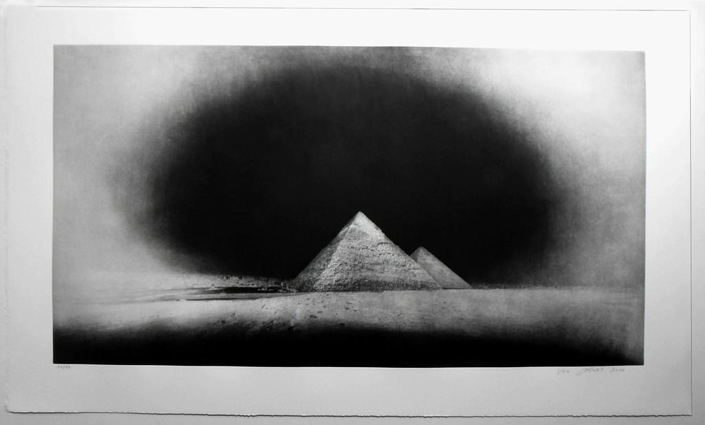 Vera Lutter, 'Chephren and Cheops Pyramids, Giza: January 28,' 2010-2011, Carolina Nitsch Contemporary Art