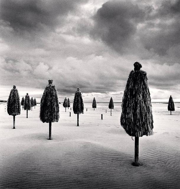 Michael Kenna, 'Thirteen Beach Umbrellas, Montesilvano, Abruzzo, Italy. ', 2015, Photography, Silver Gelatin Print, Weston Gallery