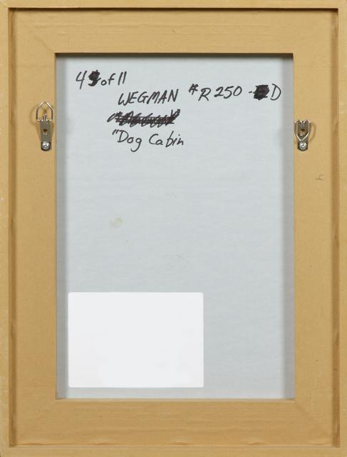 William Wegman, 'Dog Cabin (From Man Ray:  A Portfolio of 10 Photographs)', 1982, Photography, Silver gelatin print, Heather James Fine Art