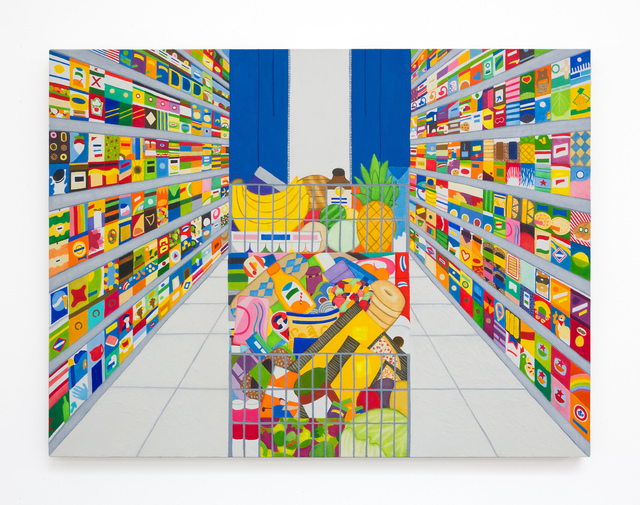 , 'Grocery Day,' 2018, VARIOUS SMALL FIRES