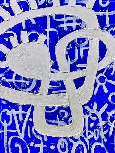 Victor Ekpuk, 'Composition in Blue 2', 2019, Aicon Gallery