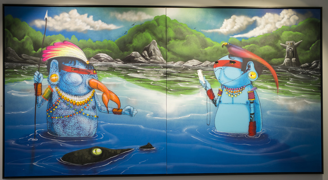 Cranio, 'Learning how to fish', 2016, Painting, Spraypaint on canvas, Vroom & Varossieau
