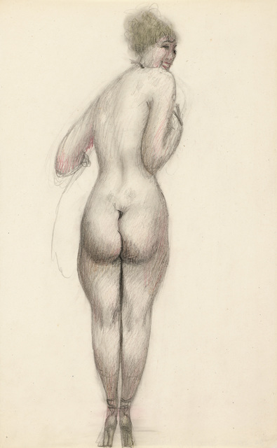 , 'Smiling Nude from the Back,' ca. 1919, Galerie Bei Der Albertina Zetter