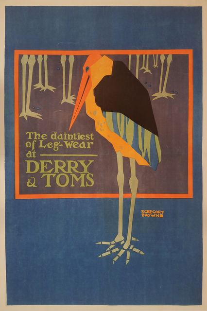 , 'Derry & Toms - Daintiest of Leg Wear - Tights - Bird - Fashion,' ca. 1920, Omnibus Gallery
