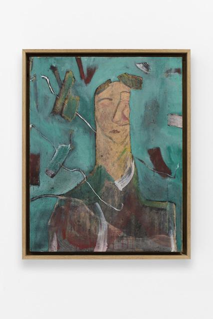, 'Untitled (green portrait),' 2016, GRIMM